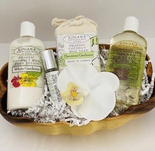 Hawaiian gourmet Corporate Gift baskets and Art with Steve