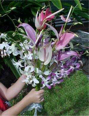 Hawaiian Tropical Wedding Flowers Leis Bouquets Corsages