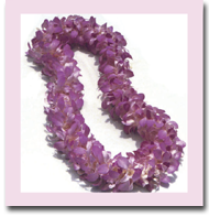 Hawaiian orchid flower leis