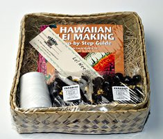 Hawaiian lei making kit tropical flowers